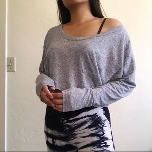 VICTORIA SECRET | Grey cropped long sleeves